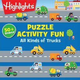 Puzzle Activity Fun All Kinds of Trucks